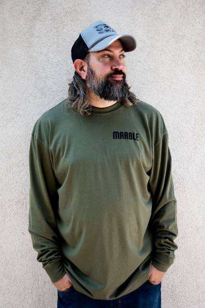 Army Green Long Sleeve-Men's Front