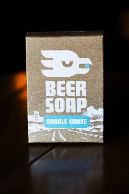 Double White Beer Soap - front view