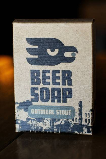 Oatmeal Stout Beer Soap - front view