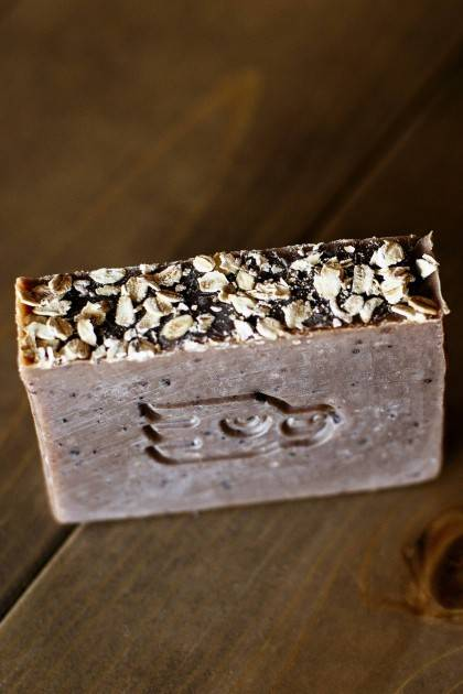Oatmeal Stout Beer Soap - top view