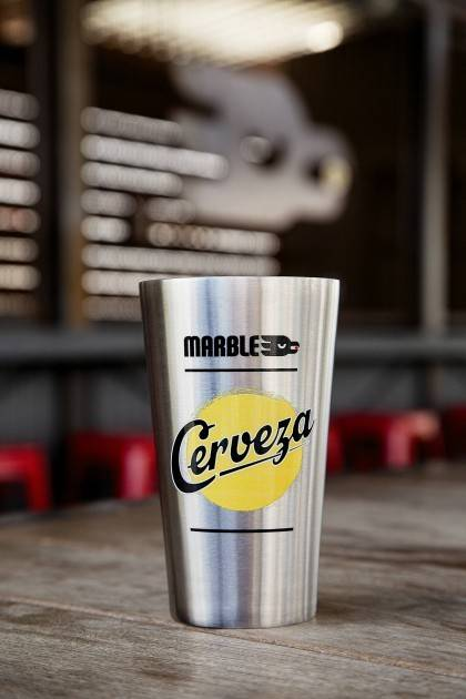 marble brewery limited edition cerveza insulated pint front view