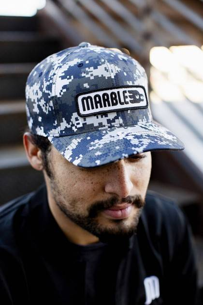 marble brewery Digi Camo Hat - front view