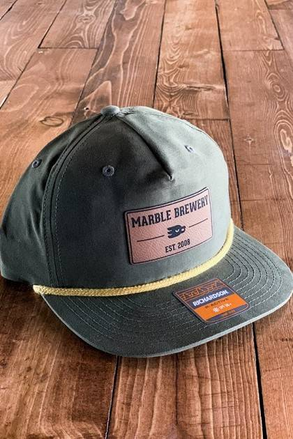 Marble Green Patch Hat