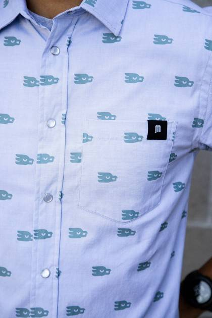 marble brewery men's maverick button down detail view