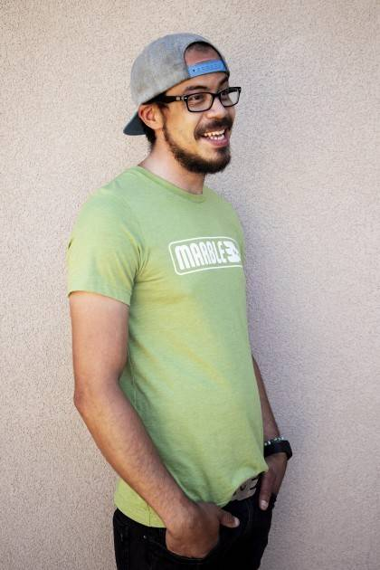 Marble Light Green Tee - front