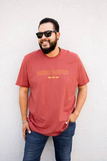 marble rust tee front view