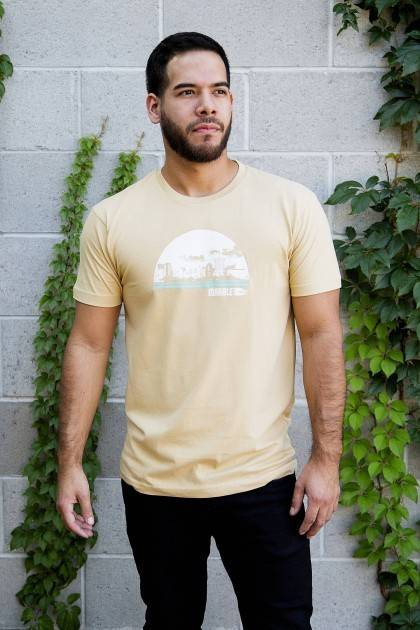 marble vintage gold cityscape tee front view
